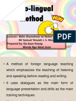 Audio-lingual Method (1)