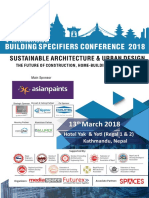 Builing Specifiers Conference Brochure 2018