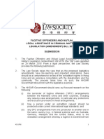 Law Society of Hong Kong submission over extradition bill