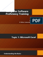 MS Excel 2010 Training