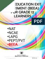 Basic Education Exit Assessment Beea for Grade 12 2019