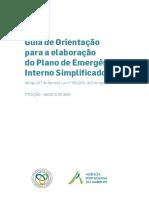 Guia de Orientação Para Elaboração Do Plano de Emergencia Interno Simplificado-AGOSTO-2016