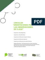 CIRCULAR Orientaciones Observaciones de Clase