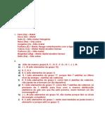 C.2 Tabela Periódica Dos Elementos Teste Disgnóstico 1 Soluções