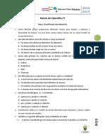 BQ 9 Classificação Materiais