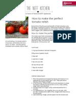 Make Perfect Tomato Relish