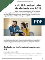 Despesas Do IRS_ Saiba Tudo o Que Pode Deduzir Em 2019
