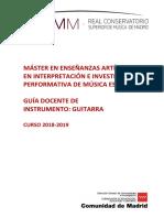 Programa contenido Instrumento Guitarra
