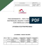 03.-Traslado de Materiales, Equipo y Herramientas Con Vehículo Liviano
