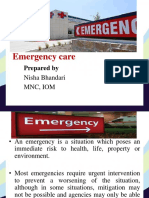 Emergency Care F