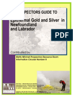 Guide to Epithermal Gold Deposits