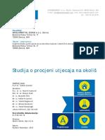 Studija o procjeni utjecaja na okoliš Toplane Zenica