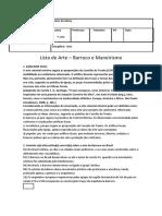Lista de Arte - Maneirismo e Barroco.docx