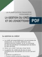 Cours 4 La Gestion Du Crédit Et de l'Endettement