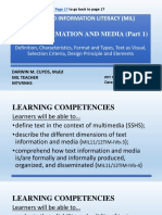 Media and Information Literacy (Mil)