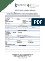 Formulário Para Cadastro de Professor Avaliador de Bancas