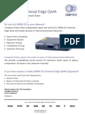 Arris D5 Universal Edge QAM   Power Supply   Computer Networking
