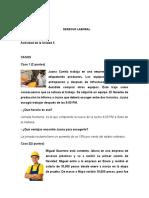 Derecho Laboral Actividades Unidad 2