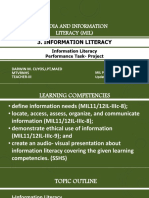 3. Information Literacy - Information Literacy and Performance Task- Project