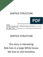Sentece Structure