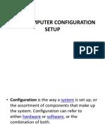 Basic Computer Configuration Setup