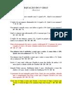 Equação Do 1º Grau - Exercicio