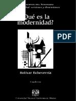 Echeverria Bolivar - Que Es La Modernidad