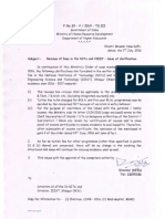 Revision of Fee in NITs and IIEST