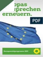 B90GRUENE Europawahlprogramm 2019 Barrierefrei