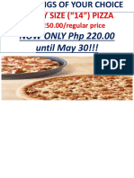 2-Toppings of Your Choice