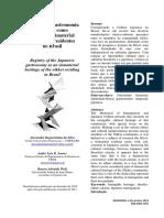 Registro Da Gastronomia Japonesa Com Patrimônio Imaterial