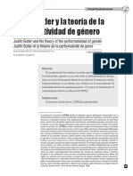 Dialnet - Judith Butler y La Teoría de La Performatividad de Género
