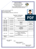NICO Class Program Teachers Schedule