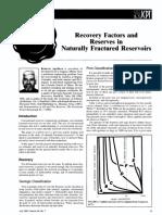 Factor de recuperación en yacimientos fracturados