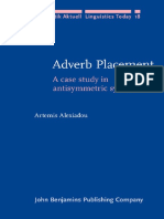 (Linguistik Aktuell_Linguistics Today, 18) Artemis Alexiadou - Adverb Placement_ a Case Study in Antisymmetric Syntax-John Benjamins Publishing Company (1997)