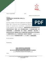 Carta Evaluacion de Desempeño Al Contratista