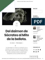 Del Daimon de Sócrates Al Mito de La Bellota. _ Philos Sophia