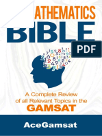 Mathamatics Bible GAMSAT