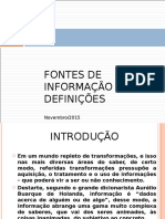Fontes de Informações - Slides - Professor Jairo Rocha