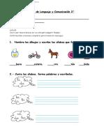 2° año  -  Lenguaje   -   Guía  -  letra B  -  S6C1 -
