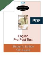10th Grade Pre-post Test Student's Edition