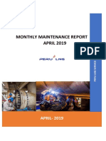 Monthly Maintenance Report Confipetrol - April 2019