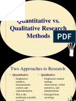 4. Comparison of Qualitative and Quantitative Research