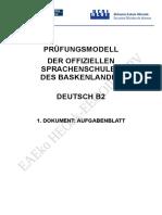 Deutsch B2 Aufgaben Cast Modificado