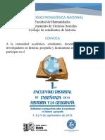 Documento Encuentro Enseñanza d Ela Historia y La Geografía.