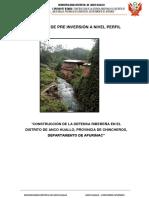 Estudio de Pre Inversión a Nivel Perfil Anccohuayllo