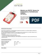 Modulo Con DHT22 Sensor de Temperatura y Humedad Para Arduino