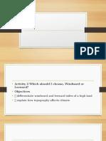Presentation Windward