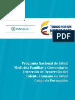 Programa Nacional Salud Familiar y Comunitaria y Medicina Familiar 200214
