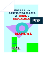 Manual Escala de Actitudes Hacia El Sexo y La Sexualidad